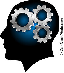 脑子, 内部, 人类, gearwheel