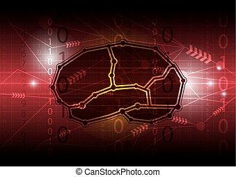 脑子, 摘要, 数字, 通信