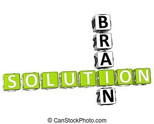 脑子, 解决, 拼字游戏