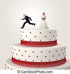 脱出, 結婚式