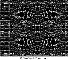 脳波, 上に, encephalogramme, eeg