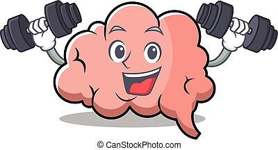 脳, フィットネス, 特徴, 漫画, マスコット
