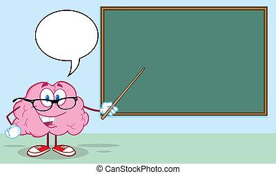 脳, ポインター, 教師