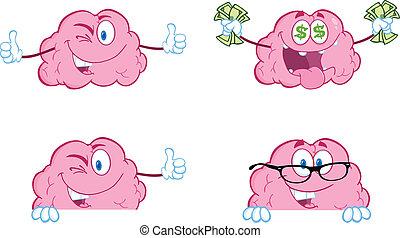 脳, マスコット, 漫画, コレクション, 8