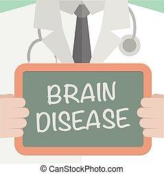 脳, 医学, 板, 病気