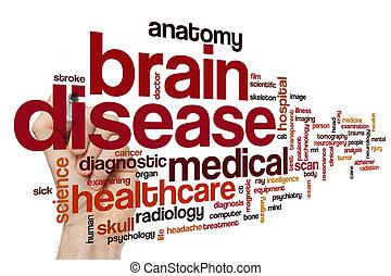 脳, 単語, 病気, 雲