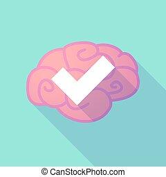 脳, 印, 点検, 長い間, 影