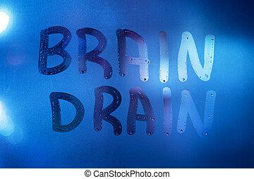 脳, 夜, 色, ガラス, ぬれた, 言葉, クラシック, 窓, ぼやけた背景, クローズアップ, 青, 下水管, 書かれた