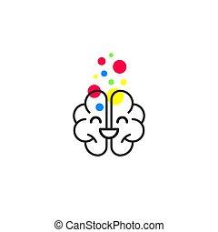 脳, 幸せに微笑する, アイコン