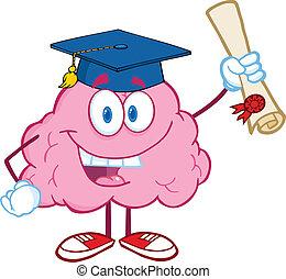 脳, 幸せ, 卒業証書, 持ちこたえる