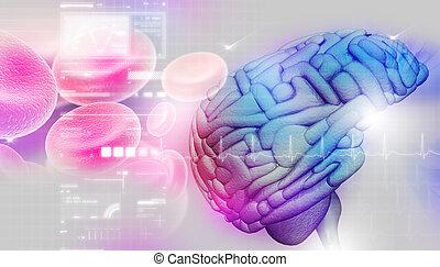 脳, 抽象的, 背景
