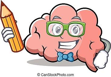 脳, 特徴, 漫画, 学生, マスコット