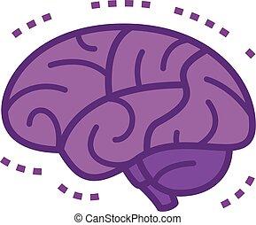 脳, 病気, イラスト