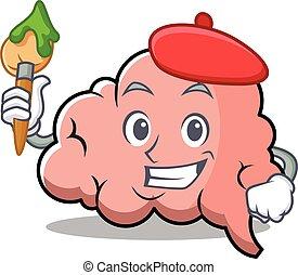 脳, 芸術家, 特徴, 漫画, マスコット