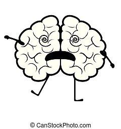 脳, 隔離された, 気絶させられた, 漫画