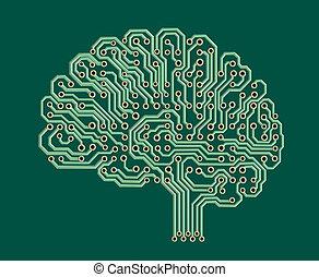 脳, 電子