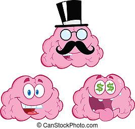脳, 12, 漫画, コレクション, マスコット