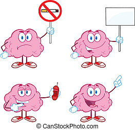 脳, 5, 漫画, コレクション, マスコット