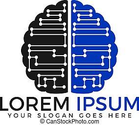脳, logo., 回路