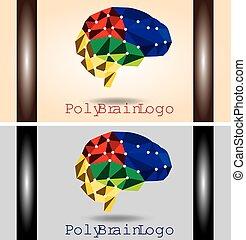 脳, poly, ロゴ