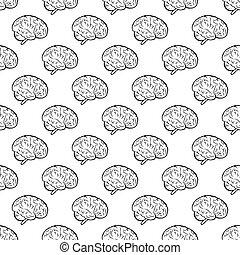 脳, seamless, 人間, パターン