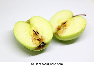 腐った, 緑のリンゴ