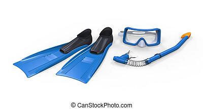 腐敗罐, 眼鏡, 以及, 水下通气管
