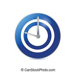 腕時計, デザイン, ターゲット, イラスト