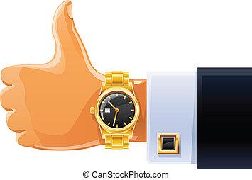 腕時計, 手