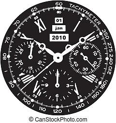 腕時計, 時計