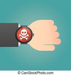 腕時計, 痛みなさい, 頭骨, アイコン
