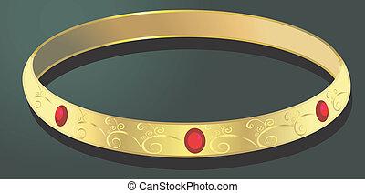 腕輪, 金