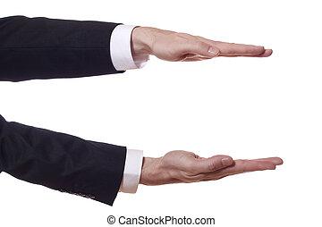 腕, ショー, 高さ, ビジネスマン