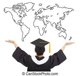 腕, 仕事, 開いた, 歓迎, 世界的に, 学生, 卒業