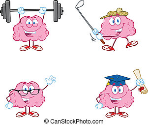 腦子, 卡通, 吉祥人, 彙整, 2