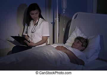 腫瘍, 検査, 患者, 医者