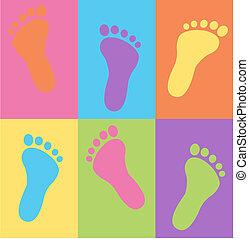 腳, 圖案, seamless