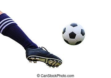 腳, 踢, 足球, 被隔离, 由于, 裁減路線