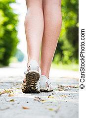 腿, 女性, 路