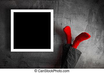 腿, 牆壁, 把英尺放向上