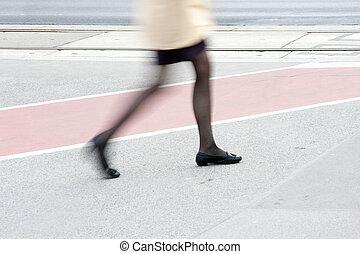 腿, ......的, 婦女, 小洒館, 被模糊不清運動