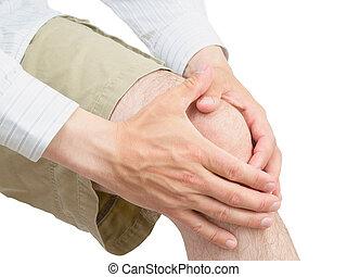 膝, brace., ネオプレン