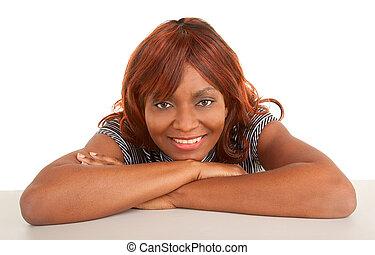 臉, 人物面部影像逼真, ......的, a, 美麗, 非洲裔美國人女士