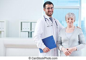 臨床醫師, 以及, 病人