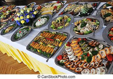 自助餐, 食物