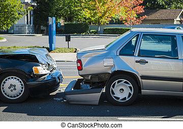 自動事故, 2, 包含, 自動車
