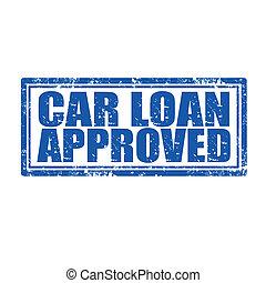 自動車ローン, approved-stamp