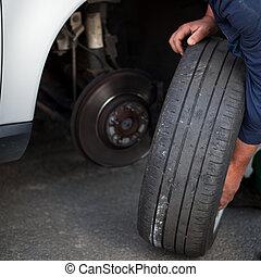 自動車修理工, 変化する, 現代, 車輪
