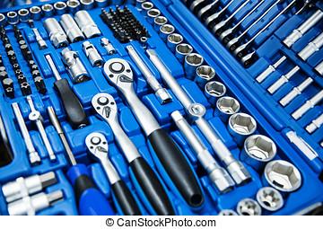 自動車修理工, 道具, セット