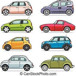自動車, アイコン, セット